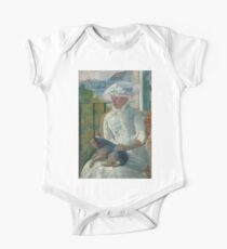 Young Girl at a Window Oil Painting by Mary Stevenson Cassatt One Piece - Short Sleeve