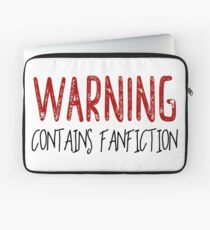 Warning Contains Fanfiction Laptop Sleeve