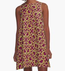 Many Hearts of Gold A-Line Dress