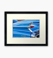 1959 Cadillac Sedan de Ville Taillight Emblem -0132c Framed Print