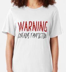 Warnung Enthält Fanfiction Slim Fit T-Shirt