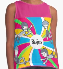 Trippy Beatles Contrast Tank
