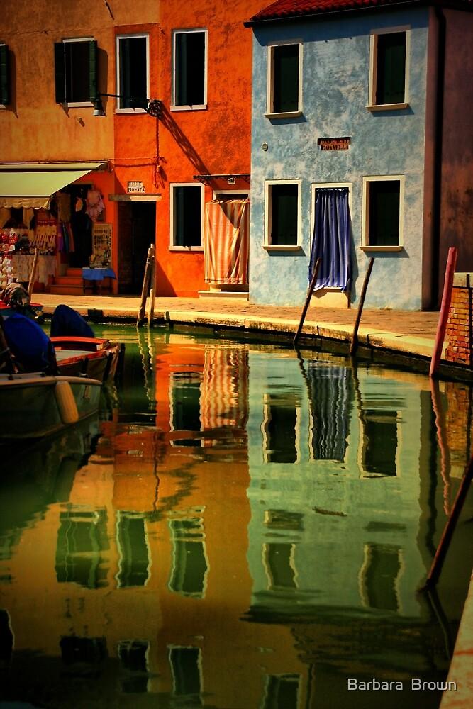 Burano Reflections by Barbara  Brown