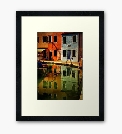 Burano Reflections Framed Print