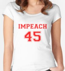 Anti-Trump Impeach 45 T-shirt Women's Fitted Scoop T-Shirt