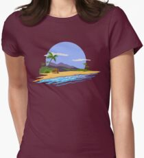 Summer time. Womens Fitted T-Shirt