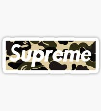 sup camo Sticker