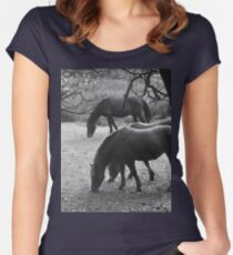 Horse business Women's Fitted Scoop T-Shirt