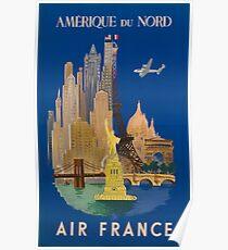 Air France Amérique du nord  Poster
