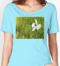 pure white petals Women's Relaxed Fit T-Shirt