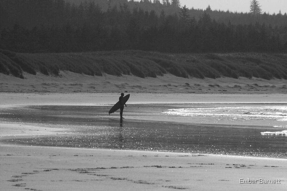 lone surfer by Ember Barnett