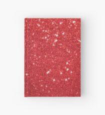 Soft Red Glittery Princess Valentine Bling Glitter Sparkles Hardcover Journal