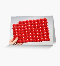 Tiny Red Bikes Greeting Card