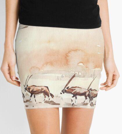Gemsbuck in the Kalahari Mini Skirt