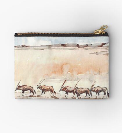 Gemsbuck in the Kalahari Zipper Pouch