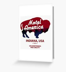 Motel America Greeting Card