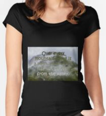 Climb Every Mountain Women's Fitted Scoop T-Shirt