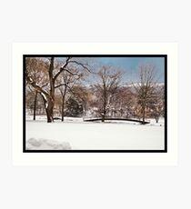 Winter At Weyhill Art Print