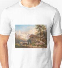 Franz Xaver Reinhold (Vienna ) hut with dairymaid and cows Unisex T-Shirt