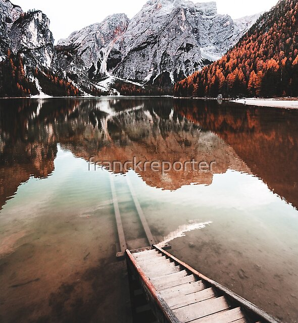 braies lake in trentino - italy by franckreporter