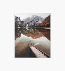 braies lake in trentino - italy Art Board