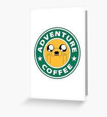 Adventure Jake Coffee Greeting Card