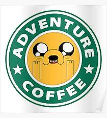 Adventure Jake Coffee Poster