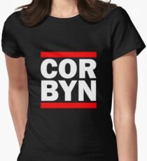Cor Byn - White Text Womens Fitted T-Shirt