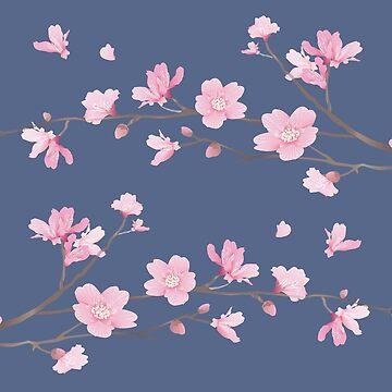 Cherry Blossom - Denim by designenrich