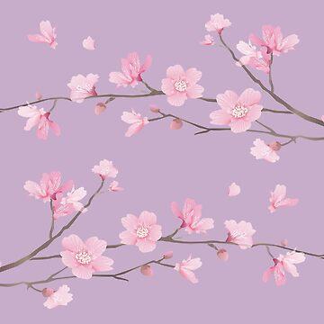 Cherry Blossom - Pale Purple by designenrich