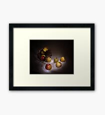 The apples basket Framed Print