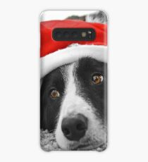 Border Collie Christmas Card - Santa's Little Helper Case/Skin for Samsung Galaxy