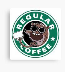 Regular Rigby Coffee Canvas Print