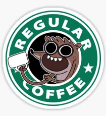 Regular Rigby Coffee Sticker