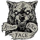 Resting Bitch Face by WOLFSKULLJACK