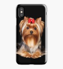 Yorkie with bow iPhone Case/Skin