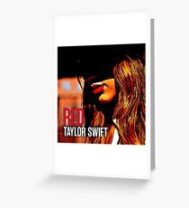 Taylor Swift Red Album Edit Greeting Card