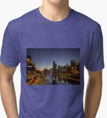 Southbank footbridge, Melbourne, Victoria, Australia. Tri-blend T-Shirt