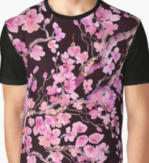 watercolor cherry , sakura Graphic T-Shirt