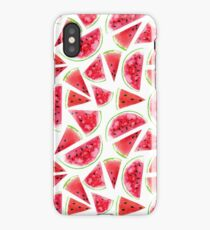 Watercolor watermelon slices  iPhone Case/Skin