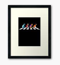 Beetles on Abbey Road Framed Print