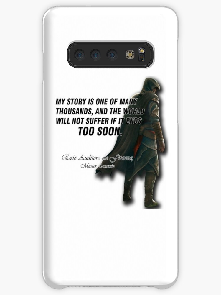 Ezio Auditore Da Firenza Quote Case Skin For Samsung Galaxy By Nloony