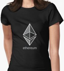 ethereum large dark Women's Fitted T-Shirt