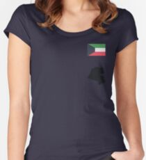 Kuwait Women's Fitted Scoop T-Shirt