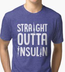 Straight Outta Insulin Health Shots Diabetes Care Tri-blend T-Shirt