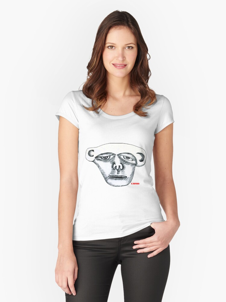 Monkey Head Women's Fitted Scoop T-Shirt Front