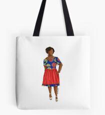Malaka - African woman in ankara print with twists. Tote Bag