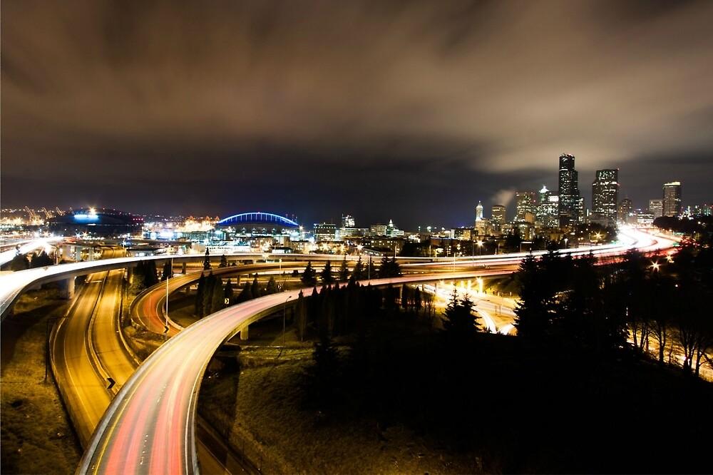 Seattle at night by ExplosiveKoala