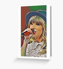 Taylor Swift Red Tour Edit Greeting Card