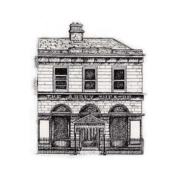 Old Abbey Theatre, Dublin by hoganartgarage